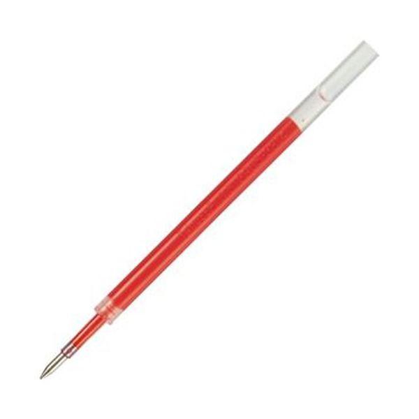 (まとめ)TANOSEE ノック式ゲルインクボールペン替芯 0.5mm 赤 1パック(5本)【×50セット】【日時指定不可】