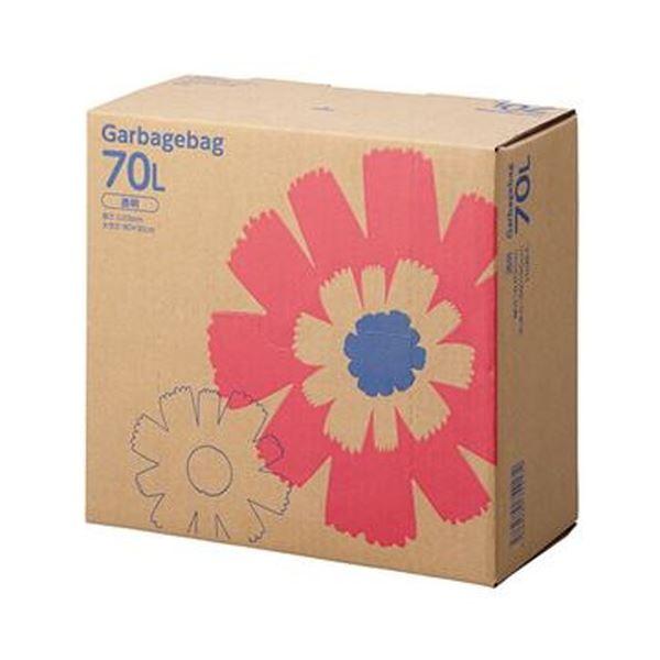 (まとめ)TANOSEE ゴミ袋 コンパクト 透明70L BOXタイプ 1箱(110枚)【×5セット】【日時指定不可】