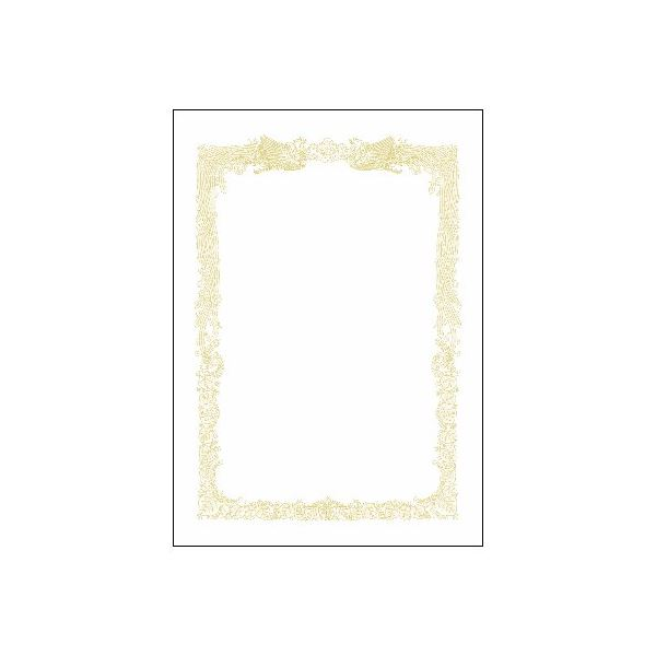 (まとめ)タカ印 賞状用紙 10-1181 A3横書 百枚【×5セット】【日時指定不可】