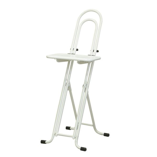 シンプル 折りたたみ椅子 【ホワイト×ホワイト 幅330mm】 日本製 スチールパイプ 『ベストワークチェア』【代引不可】【日時指定不可】