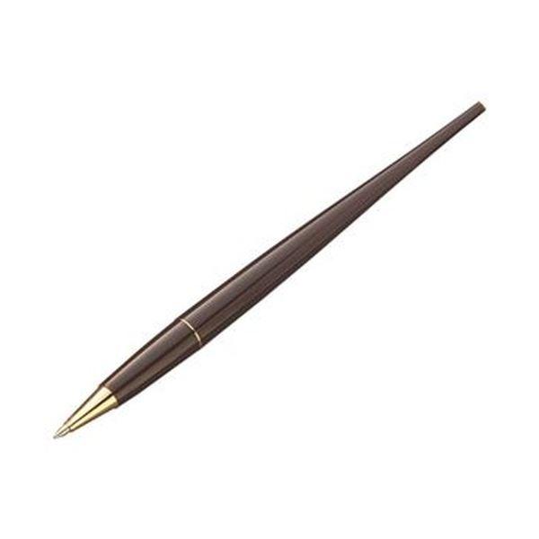 (まとめ)TANOSEE デスクボールペン0.7mm ブラウン 黒インク 1本【×20セット】【日時指定不可】