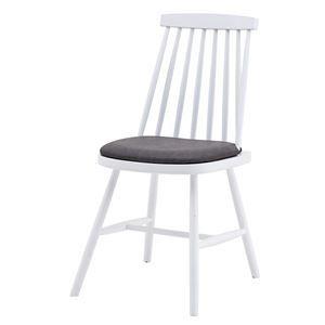 ダイニングチェア/食卓椅子 【2脚組 ホワイト】 幅41×奥行51×高さ82cm 木製 ソフトレザー 〔リビング 店舗〕【日時指定不可】