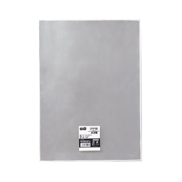 (まとめ) TANOSEE OPP袋 フラット A3用 310×430mm 1パック(100枚) 【×10セット】【日時指定不可】