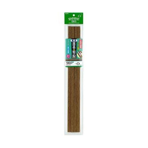 (まとめ)ELPA 足せるモール 壁用ミニ45cm テープ付 木目調ナチュラル PSM-M045P4(NA)1パック(4本)【×20セット】【日時指定不可】