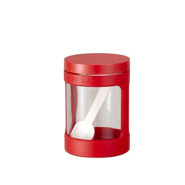 (まとめ)アスベル フォルマ ガラスポットミニ 470ml 1130 レッド (ガラス容器) 【45個セット】【日時指定不可】