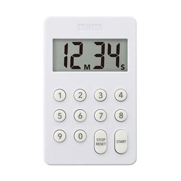 (まとめ)タニタ デジタルタイマー100分計ホワイト TD-415-WH 1個【×10セット】【日時指定不可】