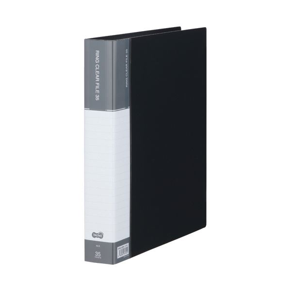 TANOSEE PPクリヤーファイル(差替式)A4タテ 30穴 35ポケット付属 背幅48mm ダークグレー 1セット(10冊)【日時指定不可】