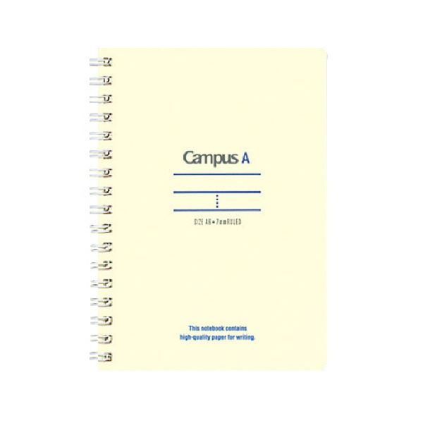 (まとめ)コクヨ キャンパスツインリングノート(ミニサイズ)A6 A罫 50枚 青 ス-T150A-B 1セット(10冊)【×5セット】【日時指定不可】