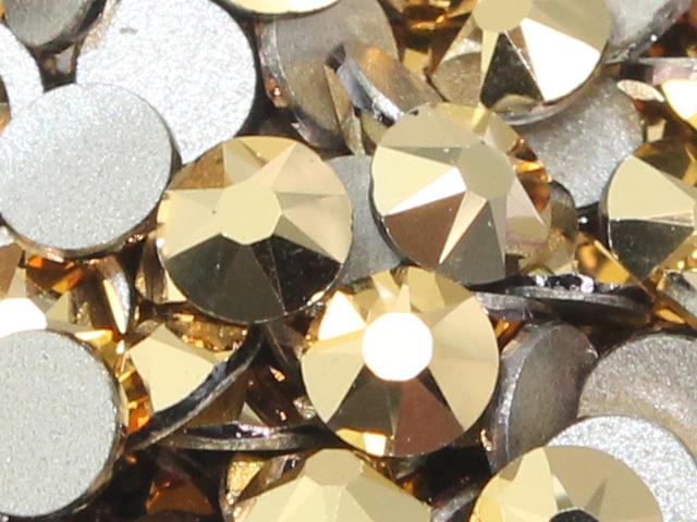 スワロフスキーラインストーン 2088 公式ストア クリスタルオーラム 10粒 ss12 セール価格 24金メッキ