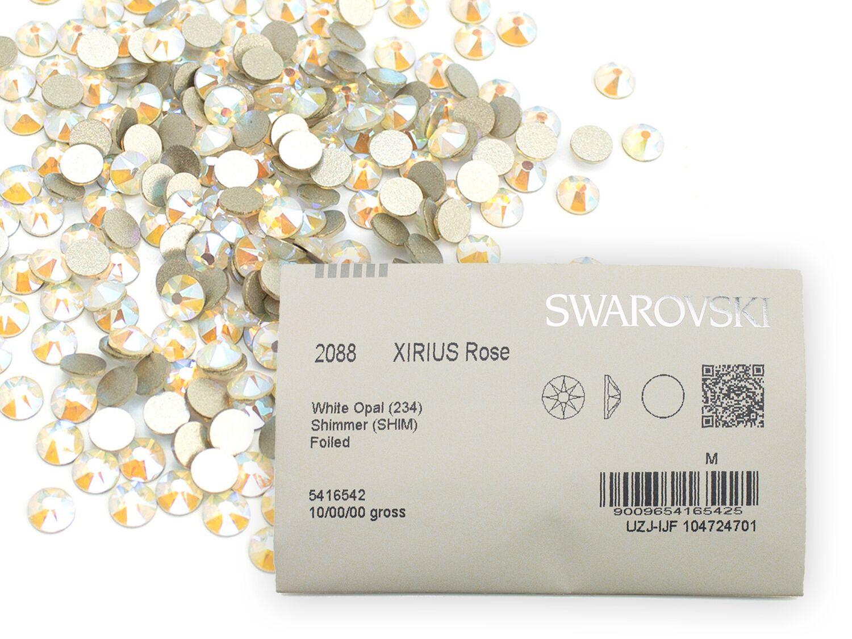 スワロフスキーラインストーン(nohotfix) 2088 ホワイトオパールシマーss16 (1440粒入り 業務用パック)