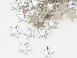 キュートな星形クリスタル♪ スワロフスキー#2816 Rivoli Star Flat Back 星形 クリスタル5mm 1粒