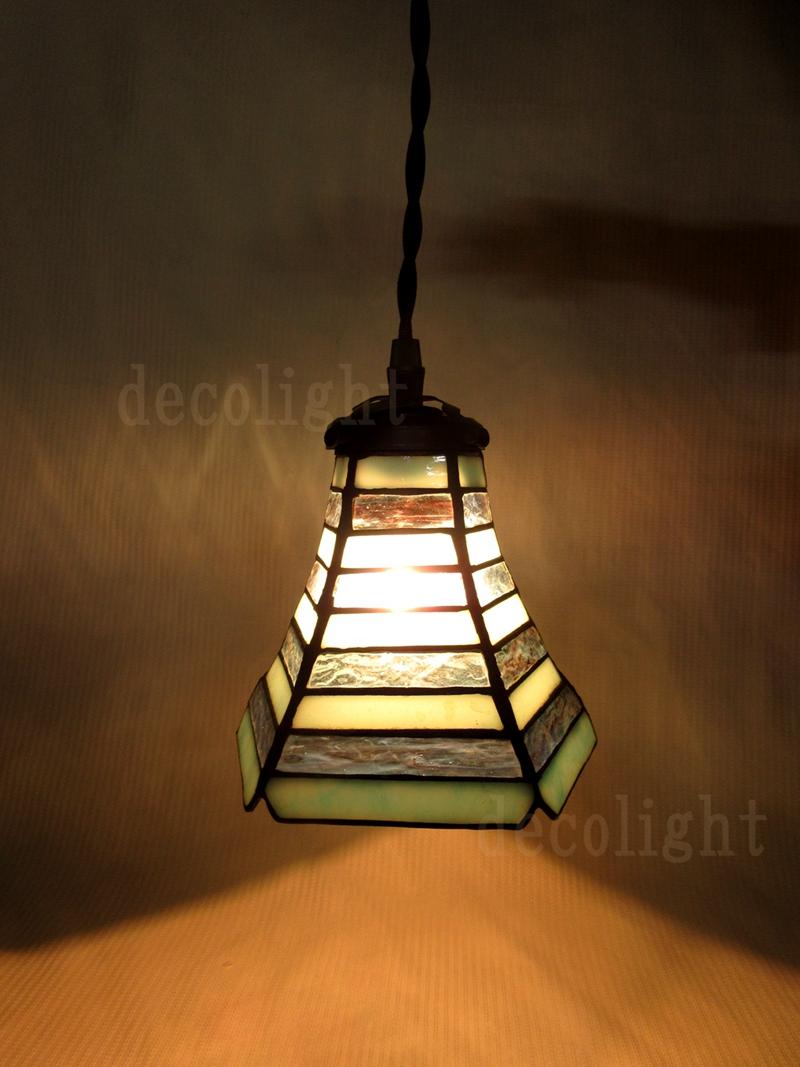1灯ペンダント★ステンドグラスランプ
