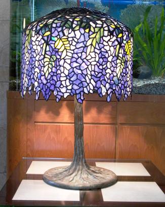 Stained Gl Lamp Richard Lee Film Purple Edge Wisteria
