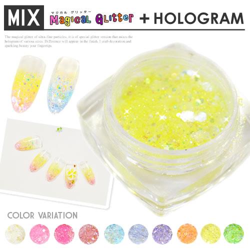 マジカルグリッター + holographic nail nail all 10 colors