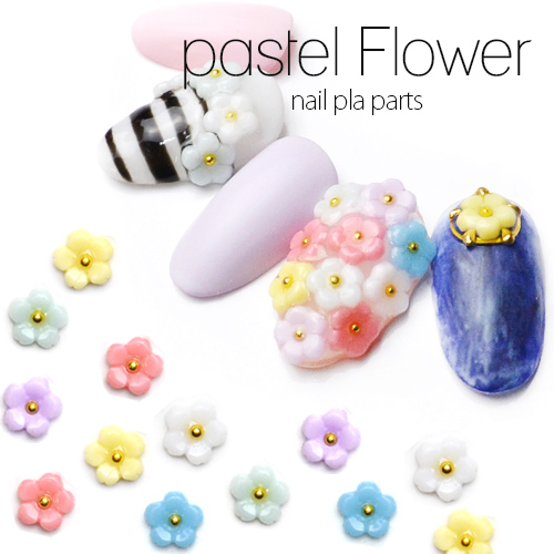 Pastelflowernailpra 第 6 部分颜色 5 件装饰部分指甲上的钉配件