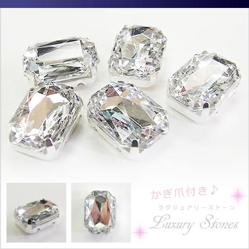 직사각형 (직사각형) 아크릴 모조 다이아몬드