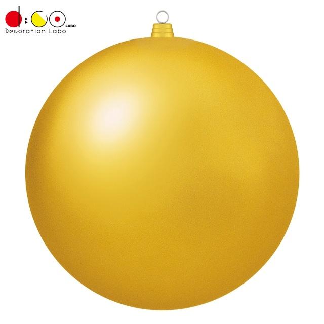 600mmフロストボール(1ケ/パック)(フロストゴールド)(OXM1536FSGO)[クリスマス デコレーション 飾り オーナメント フロストユニボール ボール 球 メタリックボール 玉 600mm 60cm ツヤなし マット調]