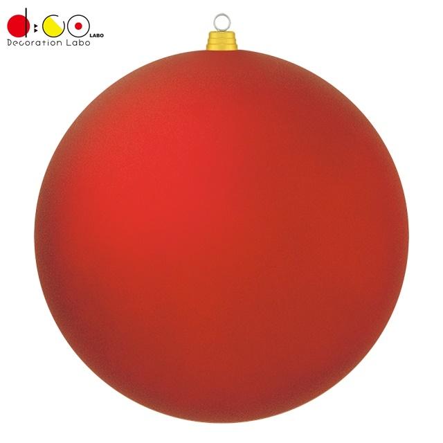 600mmフロストボール(1ケ/パック)(フロストレッド)(OXM1536FSRD)[クリスマス デコレーション 飾り オーナメント フロストユニボール ボール 球 メタリックボール 玉 600mm 60cm ツヤなし マット調]