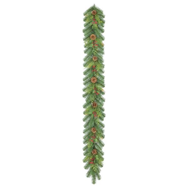 《光触媒》ナチュラルルックコーン/ベリーガーランド(GXM3285HI)[クリスマス ガーランド デコレーション 装飾 飾り 光触媒]