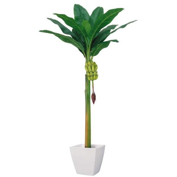 《光触媒》バナナツリー(L)(房バナナ付)《ポット別売り》(BT2004LHI)[フェイクグリーン 人工観葉植物 造花 光触媒]