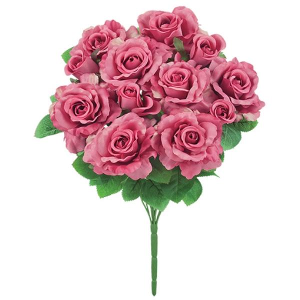 バッキンガムローズ ローズ バラ 春の新作シューズ満載 店内限界値引き中 セルフラッピング無料 薔薇 ばら 造花 ブッシュ バッキンガムローズブッシュ 束 FLB8077MV アートフラワー 12 モーブ