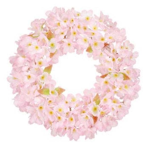 《光触媒》 (春・桜)44cm桜リース(片面)(FLW4001MHI)[春 造花 デコレーション 桜 飾り 装飾 リース 光触媒]
