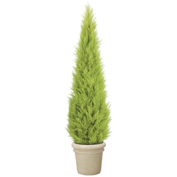 180cmゴールドクレストツリー(プラスチック)【自立型・ゴールドクレストのフェイク(人工樹木)】【屋外対応】《ポット別売り》