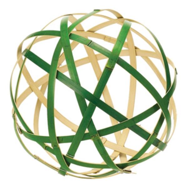 30cm竹毬(ND1055LL)[お正月 デコレーション 飾り 装飾 毬 竹毬]