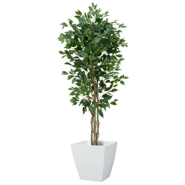 【光触媒】150cmフィカス(ベンジャミン)ツリー(S)(ナチュラルトランク)【インテリアグリーン(天然木と造花のコラボ!)】《ポット別売り》