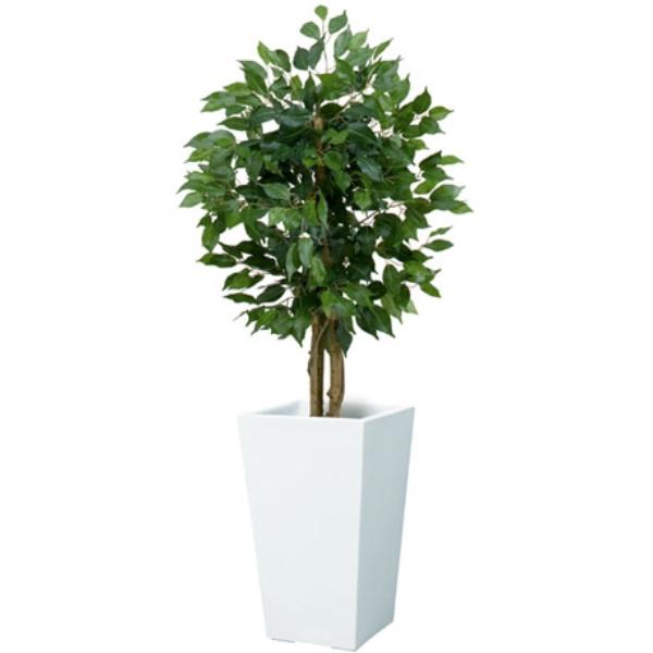 《光触媒》90cmフィカス(ベンジャミン)ツリー(XS)(ナチュラルトランク)《ポット別売り》(NGT2017XS10HI)[フェイクグリーン リーフ 天然木 人工観葉植物 光触媒]