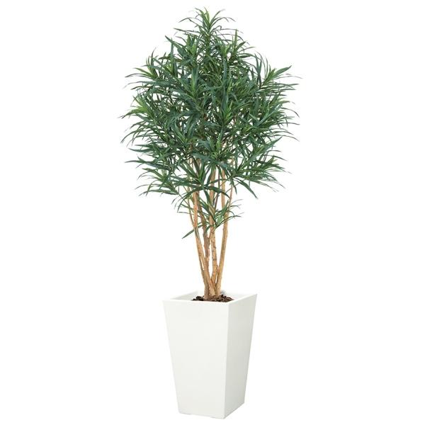 ドラセナツリー(M)(ナチュラルトランク)【インテリアグリーン(天然木と造花のコラボ!)】《ポット別売り》