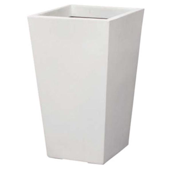 スクウェアーポット(L-35型)(ホワイト)(PB1069LWH)[造花用 ポット 鉢 容器 オアシス スクウェアーポット L-35型 ホワイト 白]