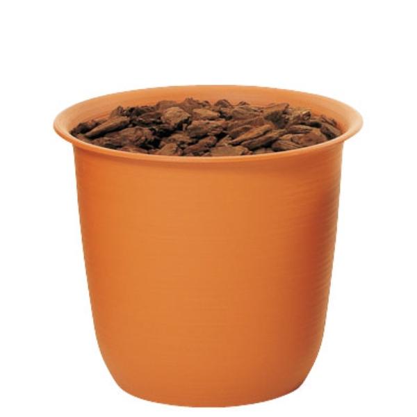 ツリーポット 8号(バーク付)(TP0008)[造花用 ポット 鉢 容器 オアシス ツリーポット 8号 バーク付 ブラウン 茶]