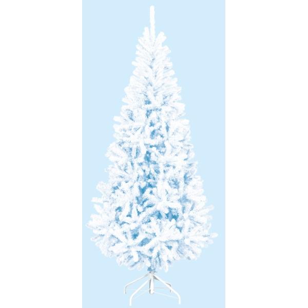 【光触媒】【防炎加工】210cmホワイトスリムツリー(FOLD)【クリスマスツリー】