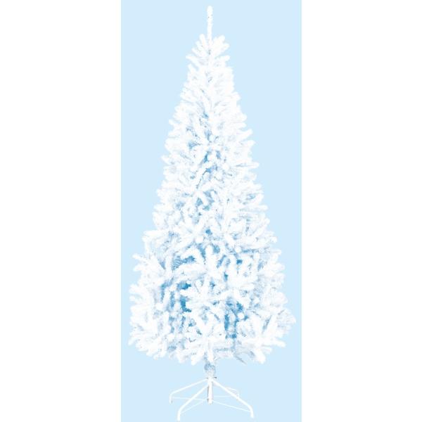 【光触媒】【防炎加工】240cmホワイトスリムツリー(FOLD)【クリスマスツリー】