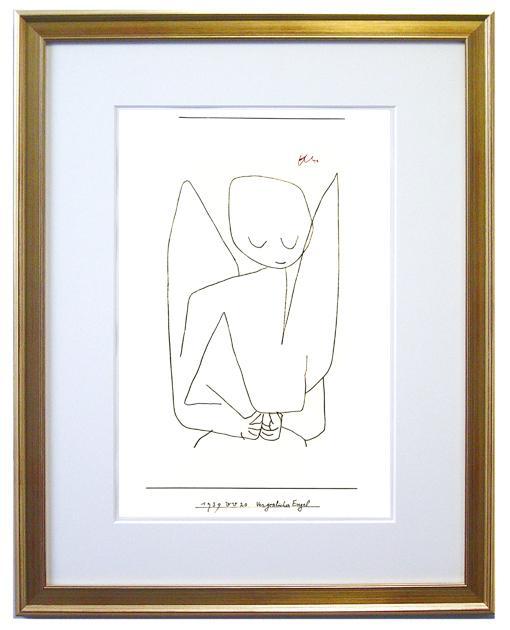 【額付き・送料無料】忘れっぽい天使(クレー版画)