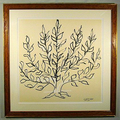 【送料無料・額付き】生命の木(マティス版画)
