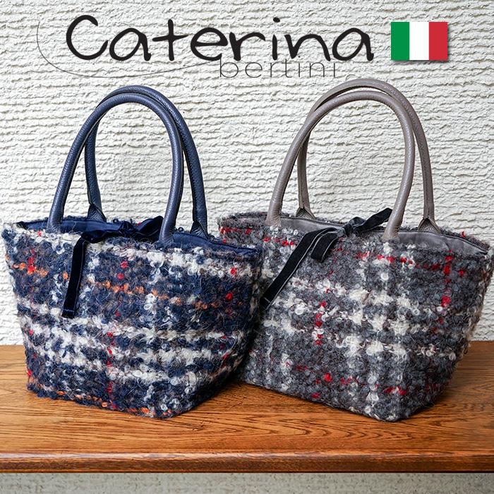 イタリア製 トートバッグ 2way モヘア チェック柄バケツ型とモヘア素材のチェックが素敵なバッグ