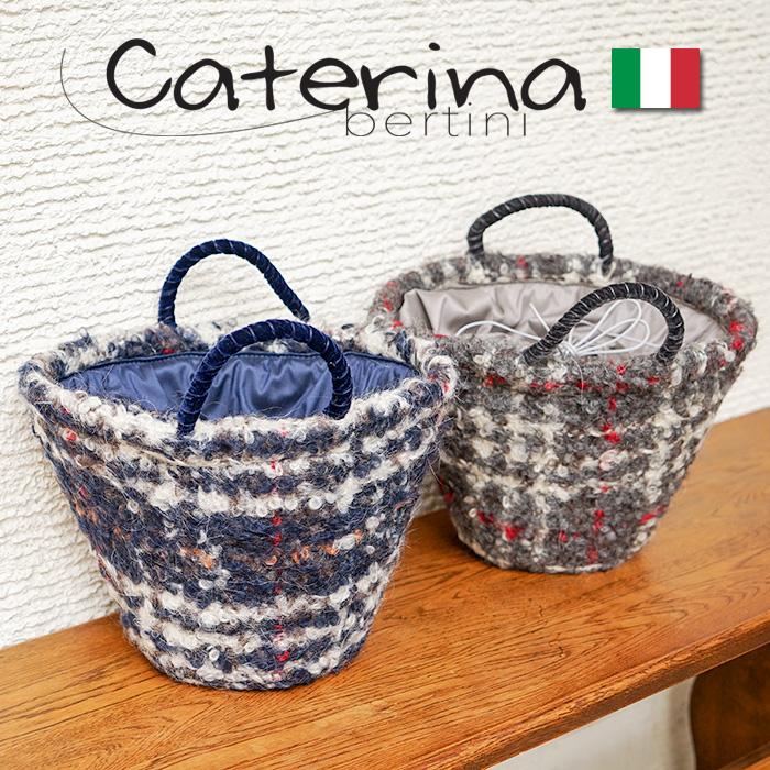 イタリア製 バケツ型 トートバッグ モヘア チェック柄バケツ型とモヘア素材のチェックが素敵なバッグ