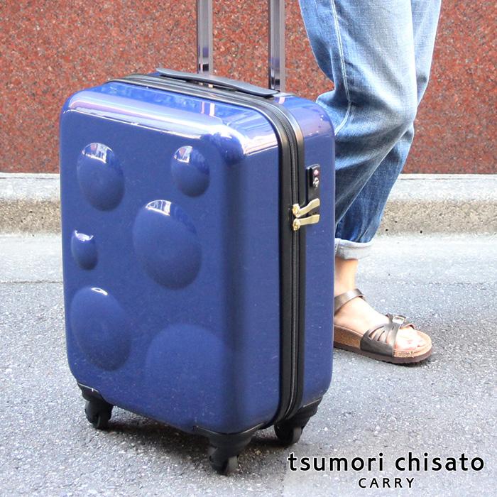 プレゼント付き!<35L>TSAロック ツモリチサト キャリーケース スーツケース バッグ スフィアキャリー 4色 軽い ネコ ドットtsumorichisato CARRY(キャリー)