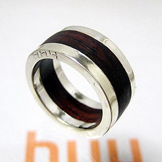 リング 指輪 メンズ レディース シルバー 木 ウッド ハンドメイド 送料無料 アクセサリー wood ring shitan
