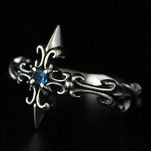 指輪 リング 十字 クロス メンズ シルバー ハンドメイド thistle cross