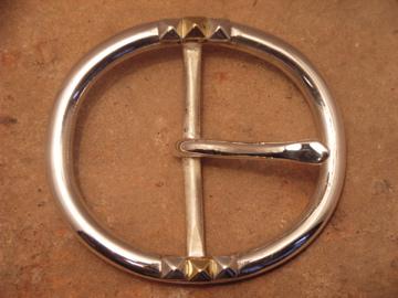 ベルト バックル レザー 革 メンズ シルバー 送料無料 スターリングシルバー ハンドメイド Ovum