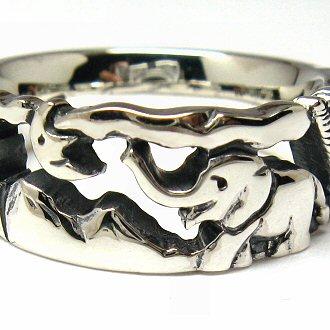 指輪 リング 送料無料 ペア レディース 刻印 象 ゾウ 動物 月 シルバー ジュエリー ハンドメイド 昨日見た夢