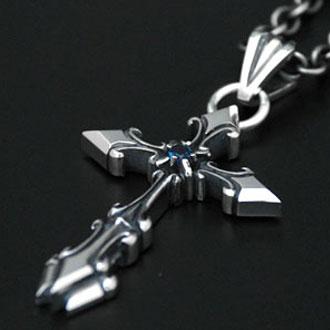 ペンダント ネックレス 送料無料 メンズ クロス 十字架 シルバー ハンドメイド yggdrasill
