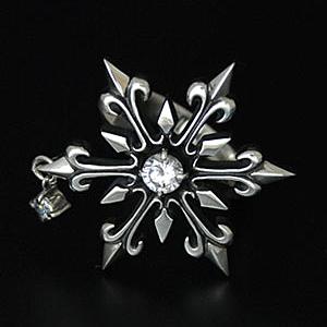 指輪 リング 送料無料 メンズ 結晶 雪の結晶 シルバー ハンドメイド snowflake
