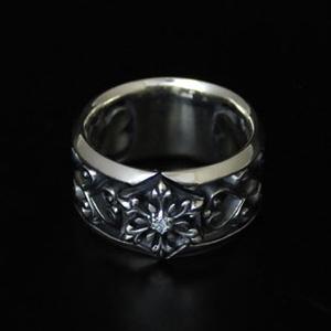 指輪 リング 送料無料 結晶 雪の結晶 メンズ レディース シルバー ハンドメイド snow shadow