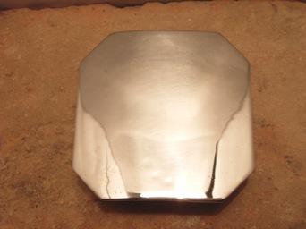 ベルト バックル レザー 革 メンズ シルバー 送料無料 スターリングシルバー ハンドメイド Octagon