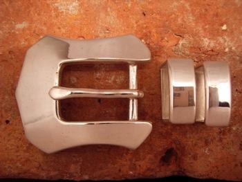 ベルト バックル レザー 革 メンズ シルバー 送料無料 ハンドメイド スターリングシルバー Westren