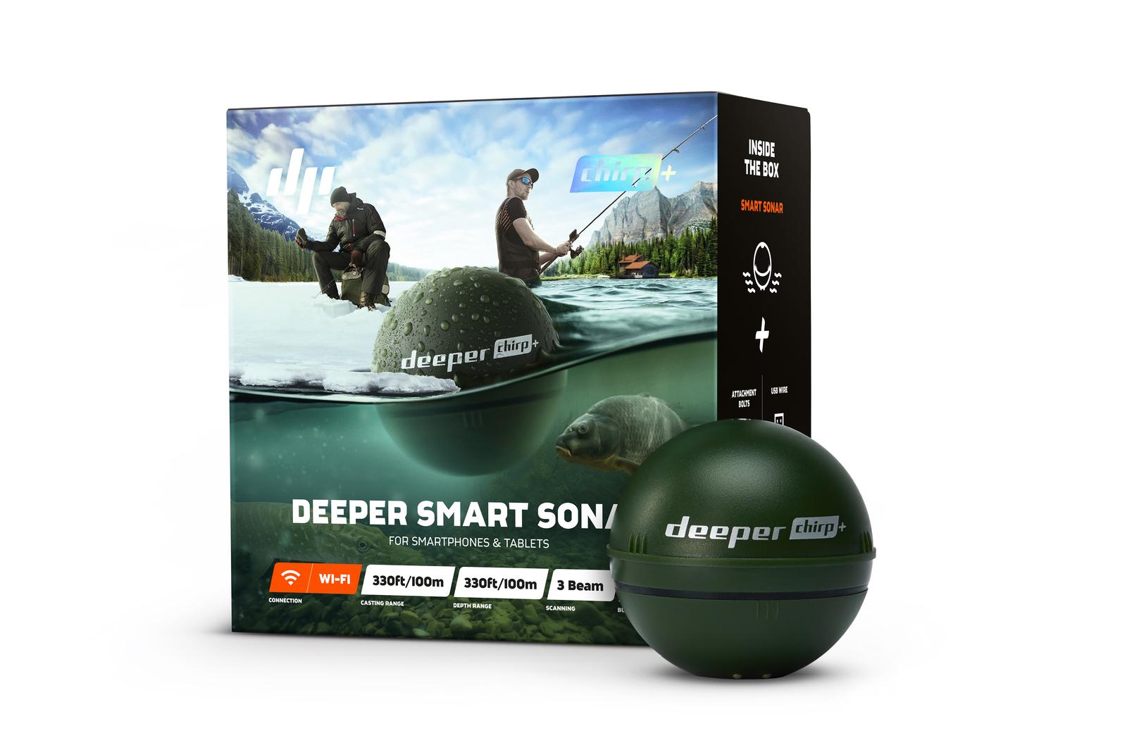 Deeper CHIRP+ (ディーパー チャーププラス) ワイヤレススマート魚群探知機【送料無料】